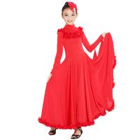 Free shipping Childrens Latin Dress Girls Dancewear Stylish Children's Stage Dance Wear Ballroom Latin Dance Dress