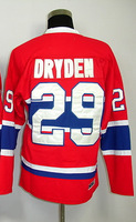 #29 Ken Dryden Men's Classic Vintage Home Red Throwback Hockey Jersey