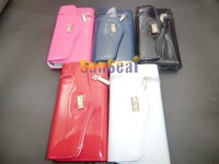 New Zipper Wallet Leather Case Pouch Cover Case for iPhone 5 20pcs/lot DHL EMS