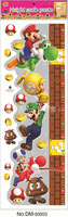 25*70cm Free shipping super mario wall sticker naughty games wall quotes home decor decals kids ruler bedroom wall sticker hot