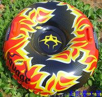 Free shipping Inflatable 1 person Flame Snow Tube / Ski Tube  / ski toy