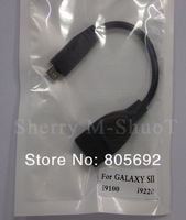 Wholesale OTG Cable Micro Cable To Femal USB Connection Kit For Samsung  i9300/i9220/i9100 Galaxy Note/S3 SIII SII DHL EMS Free