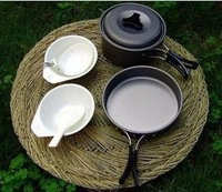 outdoor camping cooking set \cookware sets  for 1-2 person Cooking tool sets