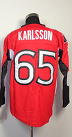 #65 Erik Karlsson Men's Authentic Home Red Hockey Jersey