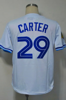 #29 Joe Carter Men's Authentic 1993 Home White Throwback Baseball Jersey