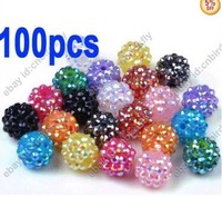 100pcs wholesale jewelry lots Basketball wives Earrings Rhinestone Spacer Beads [bd5 M*100]