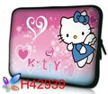 2012 high Quality  Bag Case Sleeve Protector  For  Universal  tablet pc   Lovely Hello Kitty Design   Wholesale
