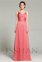 12B005 Spaghetti Straps Empire Ruched Chiffon Beach Prom Elegant Gorgeous Luxury Bridesmaid Dress Bridesmaid Prom Dress