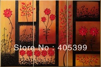 La Vie en Rose !!! Free Shipping ,100% Handmade Canvas Oil Painting Wall Art ,Modern Contemporary Canvas Painting JYJ-H006