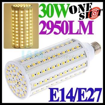 Extreme Bright 2950LM 30W E27 Corn LED Light Bulb 110v/220v White/Warm Chandelier Lamp