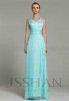 12B011 Beach Pleated Halter Beading Chiffon Elegant Gorgeous Luxury Wedding Formal Bridesmaid Dress Bridesmaid Prom Dress