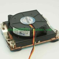 Copper 1u 478 radiator 478 server special fan double ball worm gear fan
