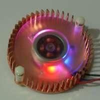 55mm copper ball graphics card fan 3p belt led colorful lights motherboard southbridge heatsnik cooling fan