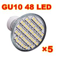 High Quality 3W GU10 spot 48 3528 SMD LED Light Lamp Bulb Warm White&Cool White