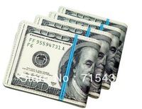 Free shipping 100 DOLLAR BILL MONEY WALLET MAN WALLET 4pcs/lot