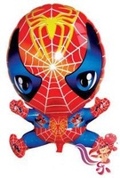 18 Inches aluminum foil Spider balloon child birthday series toy cartoon balloon free shipping 10pcs/lot