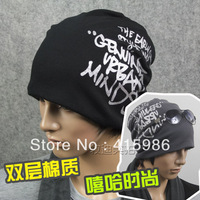 Autumn and winter men's letters turban hat hip-hop style caps free shipping