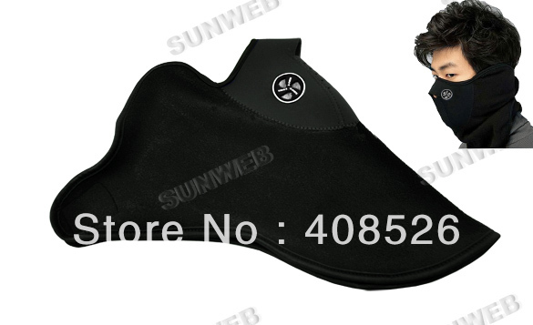 New Black Neoprene Neck Warm Face Mask Veil Guard Sport Bike Motorcycle Ski Snowboard +Free Shipping 599(China (Mainland))