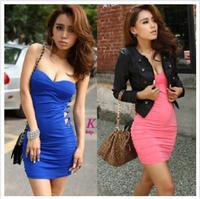 женская сексуальная slim хип Шифон бретелек элегантный цельный платье, d-621