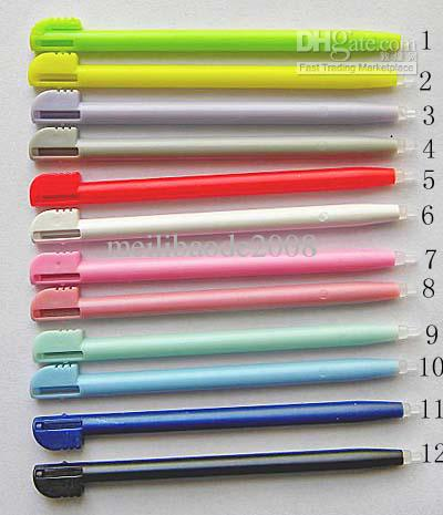 12 COLOR STYLUS FOR NDSL NDS NINTENDO DS LITE TOUCH PEN 500pcs/lot(China (Mainland))