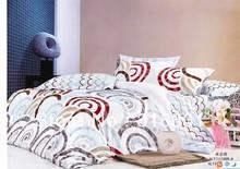 2012 novo estilo de círculos cama define ondulação / onda rodada linhas formas projeto duvet quilt cover define full / queen 4 pc/set(China (Mainland))