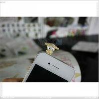 Hot-Sale Animal shape dust-proof plug for mobile phone, P-DPpulg001