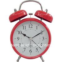 "4.5"" night light metal alarm clock"