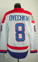 #8 Alex Ovechkin Men's Authentic Third White Hockey Jersey