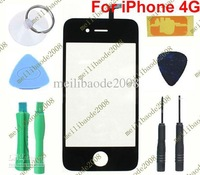 3pcs D23 LCD Touch Screen Digitizer Glass For Phone 4 4G With Tool Black