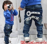 KZ-231,5 pcs/lot 2012 hot sale baby thick trousers fashion boy,girl stretch jeans autumn,winter kid denim pants wholesale