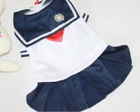 Pet clothing hot dog clothes lovely day system uniform uniform sailor suit  S,M,L,XL ,XXL,NEW