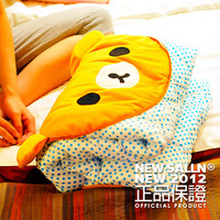 Iffydino cartoon bear pillow air conditioning air conditioning blanket sierran blanket summer is cool Large gift