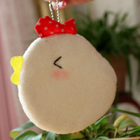 High quality handmade lovely chick coin purse lovers hangings