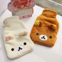 Bear cartoon hot water bottle challenge po thermal bags plush toy water hot water bottle