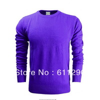 Wholesale Men's Knitwear Sweaters  pullovers Casual fashion 100%cotton long sleeve O-neck sweater  for  Autumn & Winter L-35