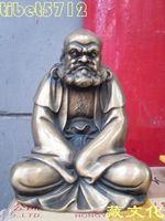 18 cm tall Tibetan Buddhist bronze damo Bodhidharma statue free shipping