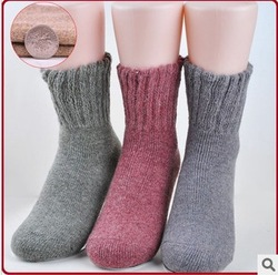 Free Shipping wholesale Women's Rabbit wool socks Knitted Socks winter warm thick socks(China (Mainland))