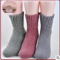 Free Shipping wholesale Women's Rabbit wool socks Knitted Socks winter warm thick socks