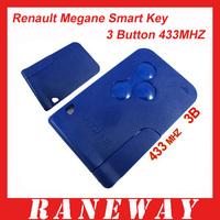 Renault Megane Smart key (Blue color) 433MHZ Free Shipping