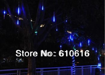 New Blue Color LED Meteor Shower Rain Tube Lights Outdoor Tree Decoration