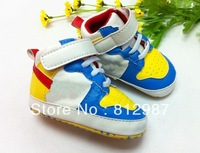 Free shipping wholesale 2012  fashion chic bright sunshine yellow mixed blue +tick logo  racing shoes style  BB shoes/prewalkers