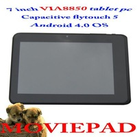 2013 China post free shipping 7 inch Android 4.0 capacitive touch tablet pc with cortex A9 Via8850 CPU HDMI camera 256MB 4GB