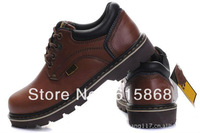 Free shipping genuine leather outdoor climbing shoes cowhide men's Fashion winter boots  to help low size:38-43 ZX787