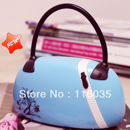 Unique gift small night light decoration fashion handbag led charge lamp bags lamp(China (Mainland))