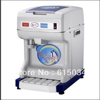 Free Shipping Stainless Steel Blade Commerical Automatic Ice Crusher,Can Adjust Ice thinckness As You Like
