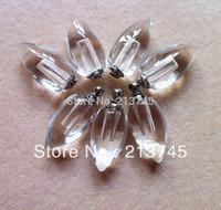 Freeshipping  Tear Drop Cleay wish  Perfume pendant Glass Vial Pendant Bottle SCREW CAP rice art pendant