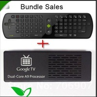 Free shipping MK808 Google TV box Android 4.1 RK3066 Dual Core TV dongle +Fly Air Mouse Keyboard RC11
