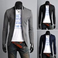 Мода ломаную клетку 100% хлопок тонкий блейзер Одноместный Брестед платье пряжки костюм m-xxl