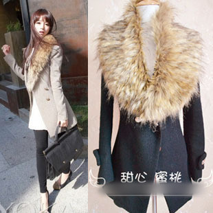 New Fashion Big Fur Collar Scarf Women Faux Fur Collar Lady Shawl Multi Colors Men Women Generic Free Shipping