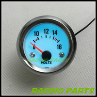 "2"" 52MM AUTO METER / EL DISPLAY &CHROME RIM VOLT GAUGE/AUTO GAUGE/CAR METER"